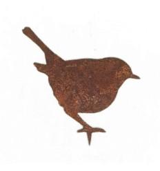 Astvogel Zaunkönig stehend - Höhe Vogel 9,5cm - Baumstecker