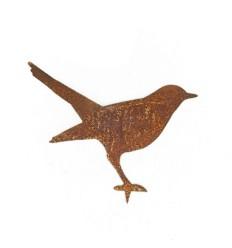 Vogel Amsel stehend als Beetstecker Höhe 15 cm