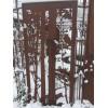 """Wild Paravent """"Fuchs und Eule"""" , Gartenparavent im Winter, Paravent filigran, Deko für den Garten, Paravent mit Schnee"""