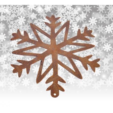 Schneeflocke Rostig