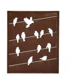 """Trennwand mit Vogelmuster """"Linea"""" klein - Höhe 120 cm"""
