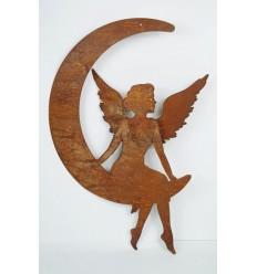 Dekofigur Engelchen im Mond z. Hängen - Höhe 35 cm