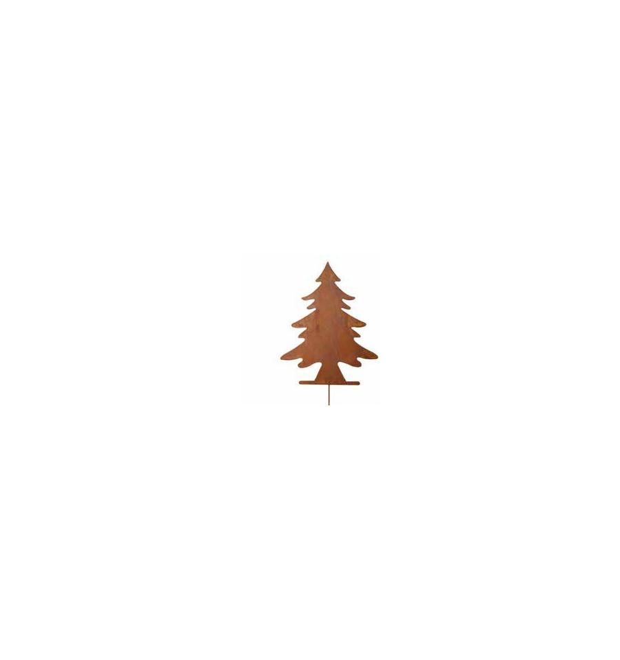 deko tannenbaum als gartenstecker h he 45 cm metallmichl. Black Bedroom Furniture Sets. Home Design Ideas