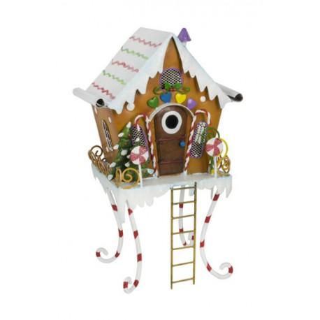 Feen Lebkuchenhaus aus Metall - Höhe 28 cm