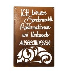 Metallmichl Edelrost Schild Sonne mit Beschriftung Wird mal Wieder Zeit f/ür Sonne und Salz zum H/ängen H/öhe 35 cm Wand-Deko//Wand-Dekoration