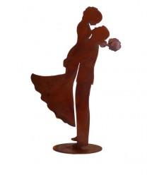 Dekofigur Hochzeitspaar aus Metall - Höhe 30 cm -Hochzeitsdeko fürs Brautpaar