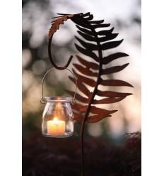 Laternenstab Farnblatt - 130 cm - Gartenstecker als Farndeko