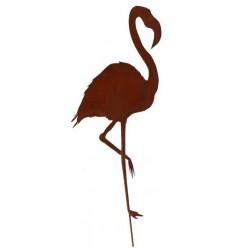 """Gartenstecker Flamingo """"Peach"""" - Höhe 120 cm"""