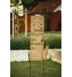 Zaunhocker Beetstecker Personnage Chat Décoration clôture jardin terrasse Coloré Oiseau
