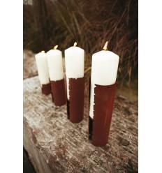 Kerzenhalter Rissdekor - Größe 2 - Höhe 13,5 cm