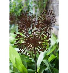Blumen Gartenstecker Allium 30cm Durchmesser (flach) Gesamthöhe: 135 cm