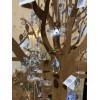 Großer Kunstbaum aus Metall als Schmuckständer
