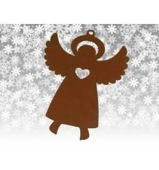 Christbaumschmuck Engel mit Herz, 8 cm hoch