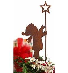 Junge Benjamin mit Sternenstab H 30cm+Spieß, zum Stecken