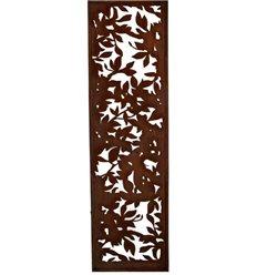 Blattwerk Sichtschutzwand Metall schmal, mit Umrandung, Höhe 200cm, Breite 50cm