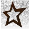 Deko Stern aus Metall rostig als Weihanchtsstern - Weihnachtsdeko reduziert