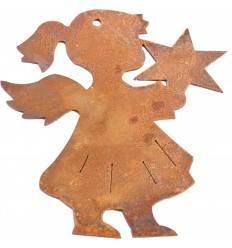 Christbaumschmuck Engelchen mit Stern 8 cm