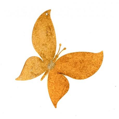 Edelrost Deko Schmetterling Metall zum Aufhängen 10 x 11 cm