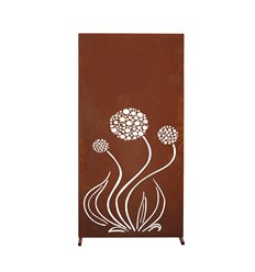 """Sichtschutzwand """"Blume"""" - Trennwand Metall - Höhe 180 cm"""