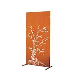 Metall Sichtschutzzaun für den Garten mit Motiv - Baum - Höhe 180cm