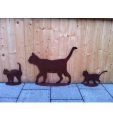 Katzenfamilie 3 teiliges Rost Katzenset