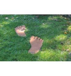 Fußtrittplatten -2er Set Fußspuren für den Garten