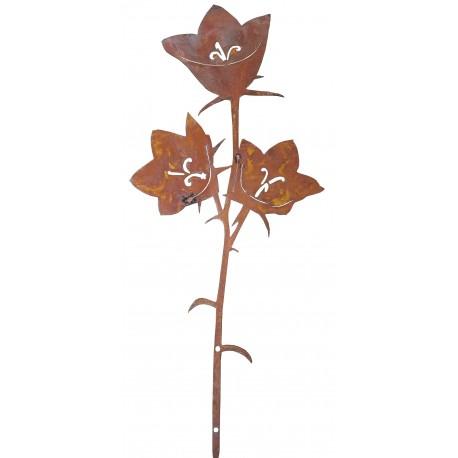 Glockenblumenstecker -Elisabeth- Rostblume