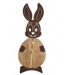 """Rost Hase """"Christl"""" mit Ei aus Holz - Edelrost Osterhase für den Garten"""