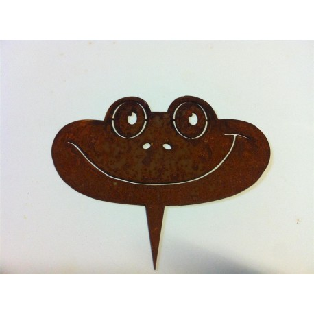 Metallsatz Frosch für Holzstamm