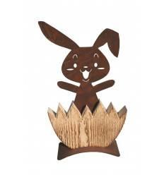 "Hase "" Michl"" aus Holz / Edelrost rostiger Hase"