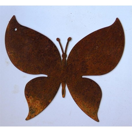 Edelrost Schmetterling zum Aufhängen 10 x 11 cm