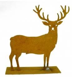 Hirsch Mini - kleiner Edelrost-Hirsch Hiruz , Höhe 12 cm