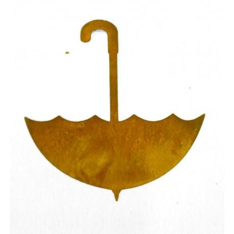 Edelrost Schirmchen zum Hängen 10 x 10 cm