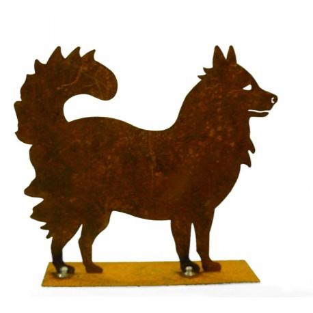 "Mini Edelrost Hund ""Spitzle"" 15 cm hoch - Husky"