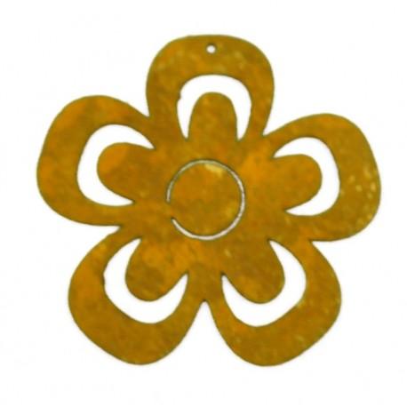 Rost Blume Mini 6 cm zum Aufhängen - Edelrost Blume