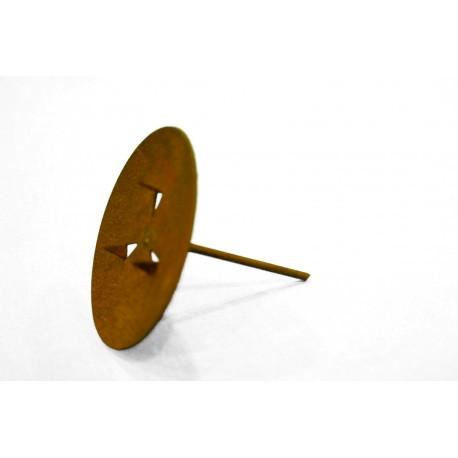 Edelrost Kerzenteller Ø 6,5 cm ideal für Gestecke und Adventskränze