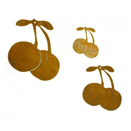 3 tlg. Kirschenkette - Rost Kirsche ungefädelt