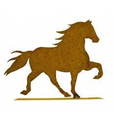 Edelrost Pferd (Friese) klein 30 cm lang