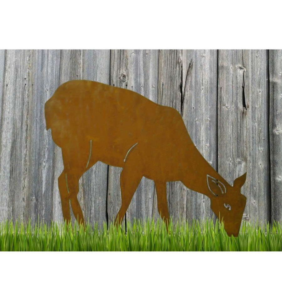 Reh send edelrost rostdeko rostig eisen metall for Tiere aus rostigem eisen