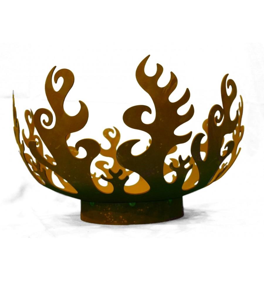feuerschale flame 50 cm edelrost feuerkorb metallmichl. Black Bedroom Furniture Sets. Home Design Ideas