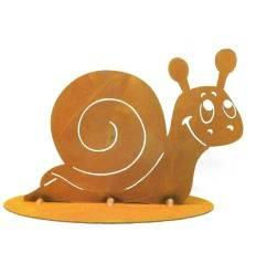 Deko Schnecke klein, 15 cm hoch auf Platte