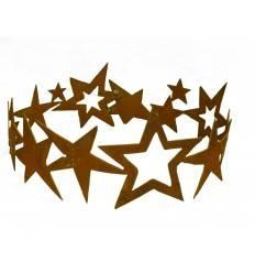 Edelrost Sternenring Ø 30 cm zum dekorieren - Umrandung für Adventskranz