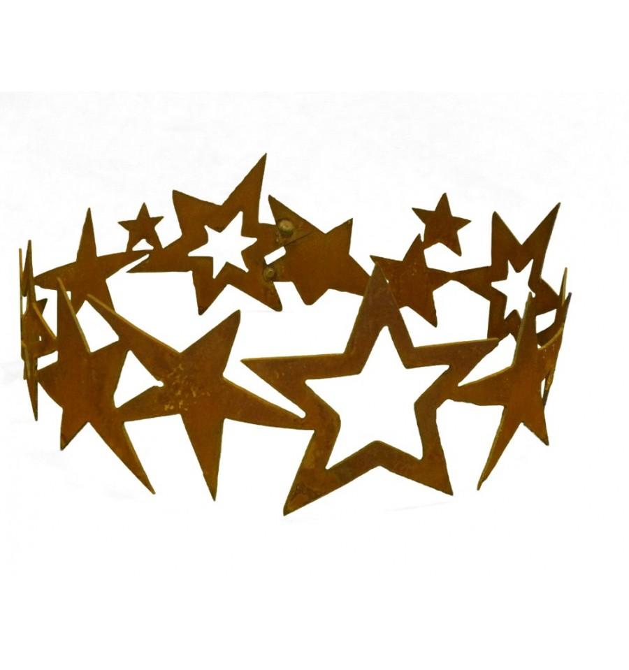 Gartenstecker Weihnachten.Edelrost Sternenring ø 30 Cm Zum Dekorieren