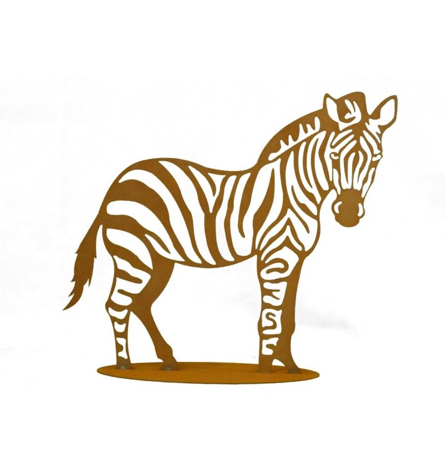 edelrost zebra 40 x 40 cm rostiges zebra als gartendeko rostiges metall. Black Bedroom Furniture Sets. Home Design Ideas