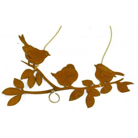 Deko Vögel zum aufhängen - fiigrane Deko aus Edelrost
