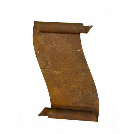 rostige tafel schriftrolle zum beschriften edelrost kaufen. Black Bedroom Furniture Sets. Home Design Ideas