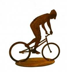 Fahrradfahrer Mountain Bike 15 cm groß