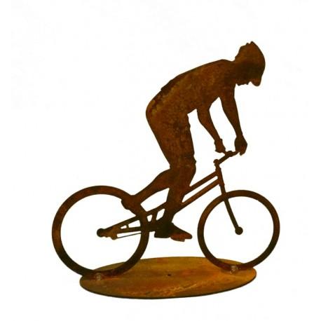 Dekofigur Fahrrad Metall als Mountainbik Fahrer