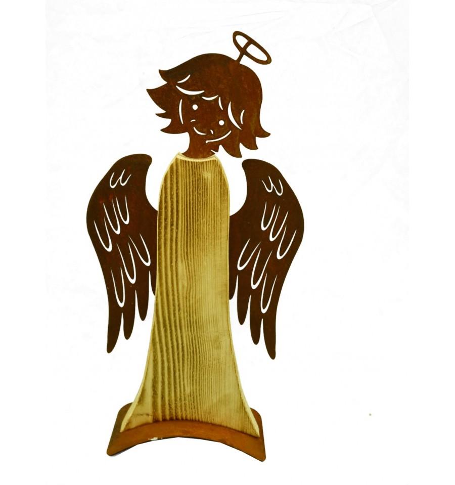 Engel babsi 55 cm hoch metallmichl for Engel edelrost