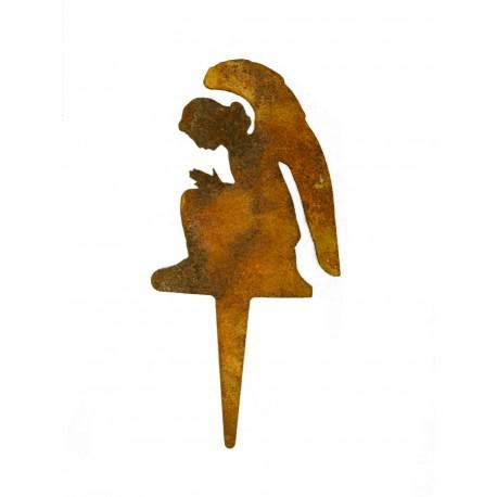 Engel Gabriel mini Stecker aus Edelrost perfekte Weihnachtsdeko